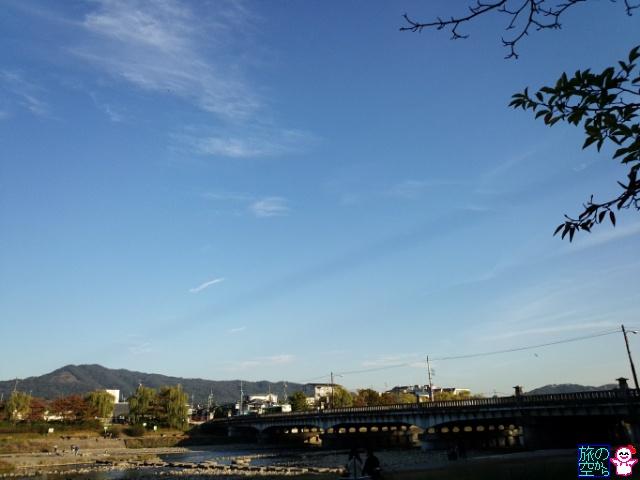 空を横切る雲の影(鴨川δ)