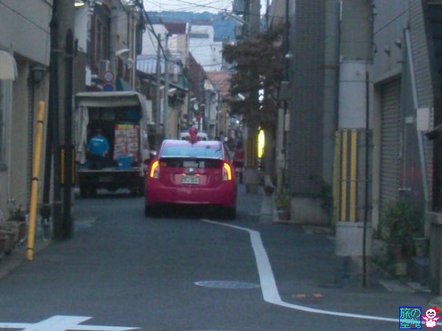 ピンクの相互タクシーとピンクの四つ葉タクシー発見!