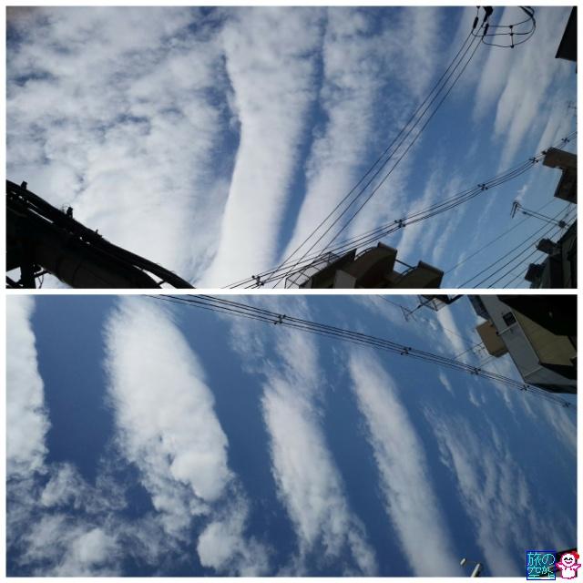 きょうのきょう(波状雲)