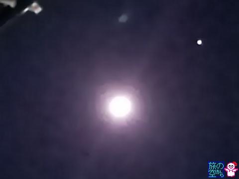 きょうの月と木星。
