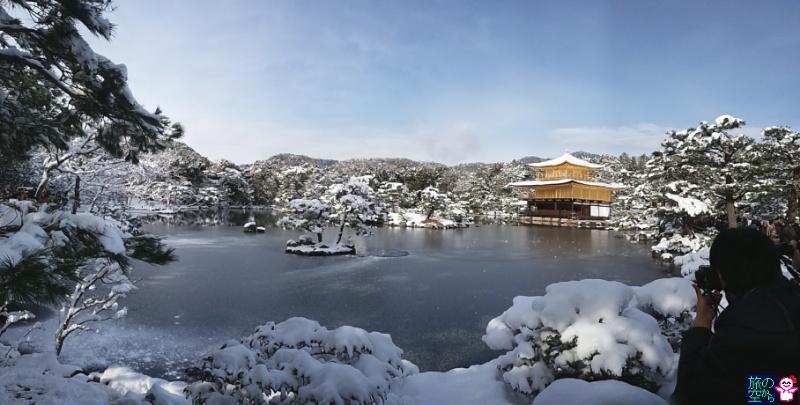 きょうの雪(金閣)