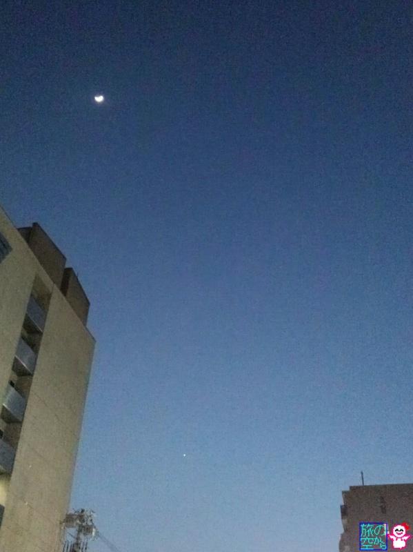 きょうの月と金星(と火星)