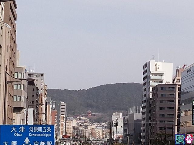 きょうの黄砂(五条新町)