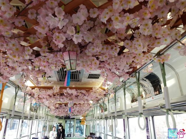 嵐電(桜電車?)