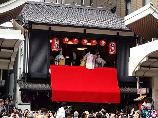 きょうの祇園祭(長刀鉾稚児舞披露、京都駅、大丸京都店)