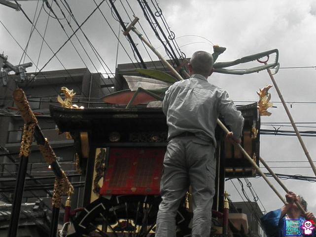きょうの祇園祭(蟷螂山舁き初め)