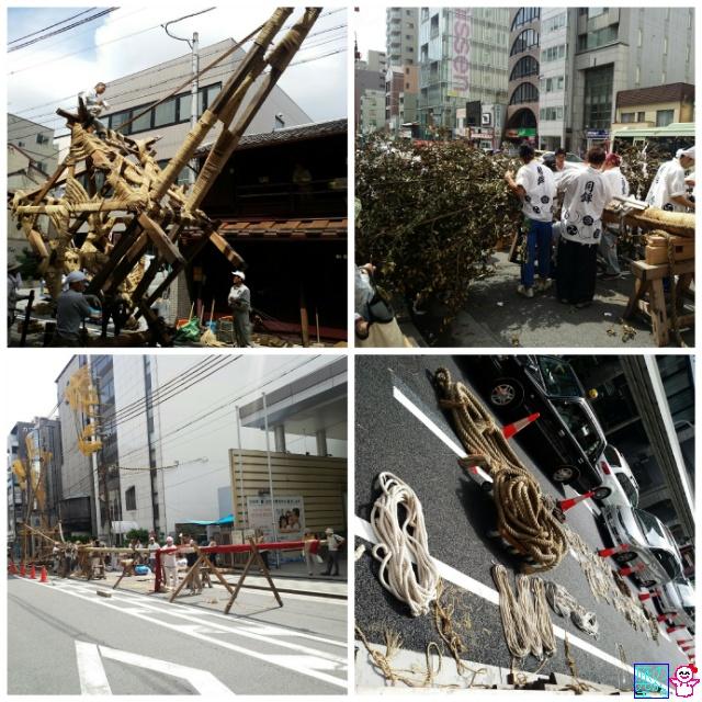 きょうの祇園祭(山鉾解体)