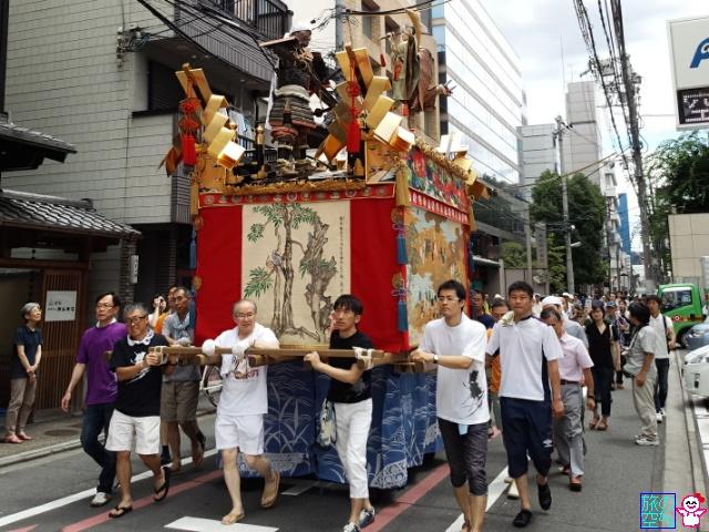 きょうの祇園祭(舁き初め、宵山初日(後祭))