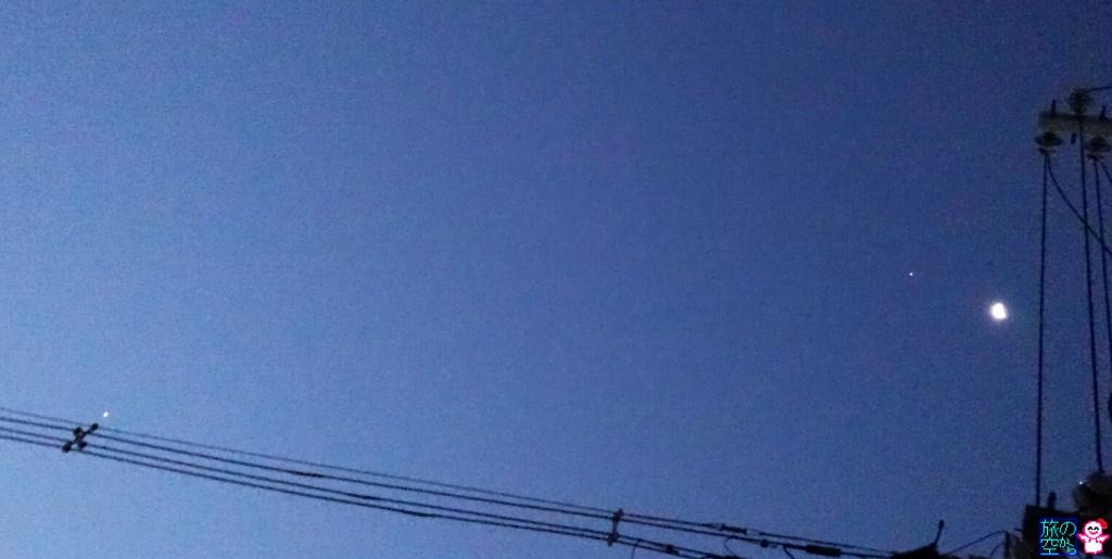 きょうの月(と木星と金星)