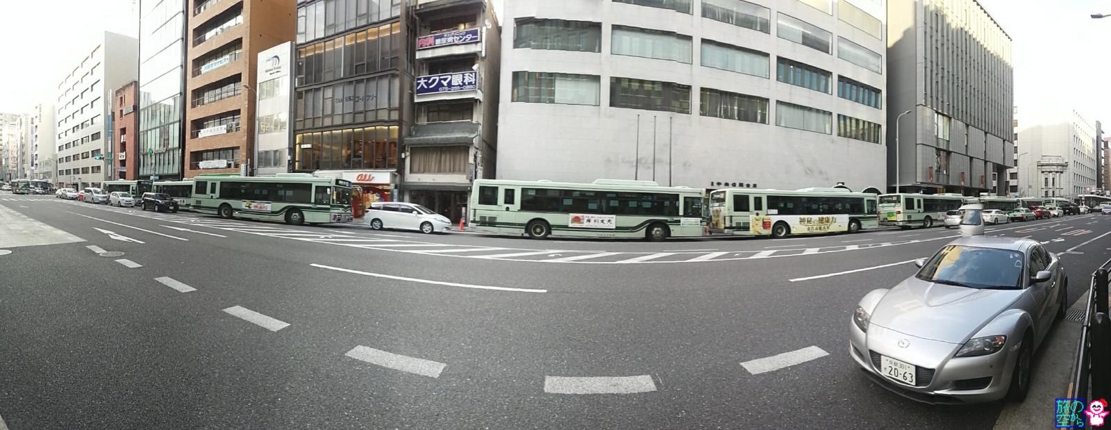 きょうの市バス(四条烏丸)