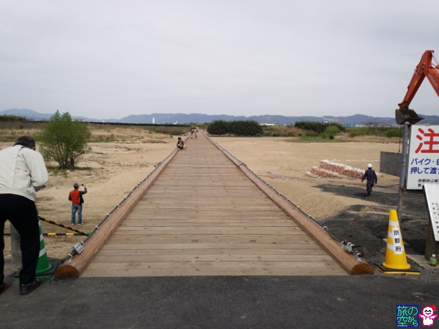 流れにくい流れ橋(上津屋橋)