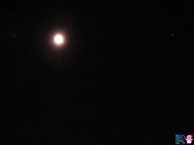 きょうも月と火星と土星(スマホでも一応写ります)