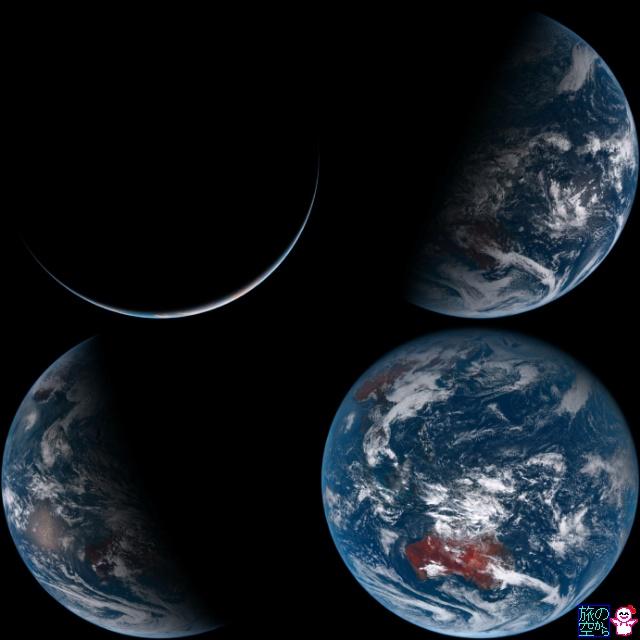 気象衛星の四季(ひまわり8号)