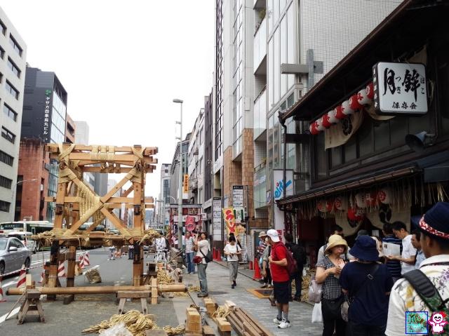 きょうの祇園祭(山鉾建て初日)