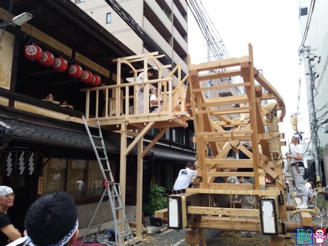 きょうの祇園祭(後祭山鉾建て)