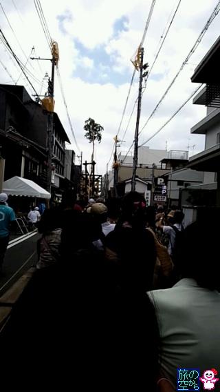 きょうの祇園祭(後祭真松立て)