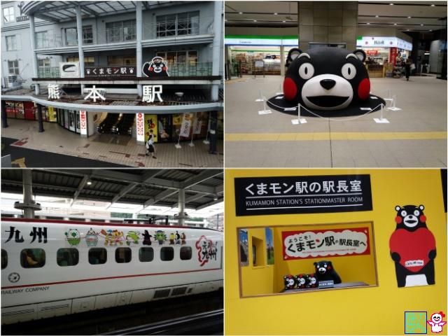 熊本駅はくまモンで出来ています。