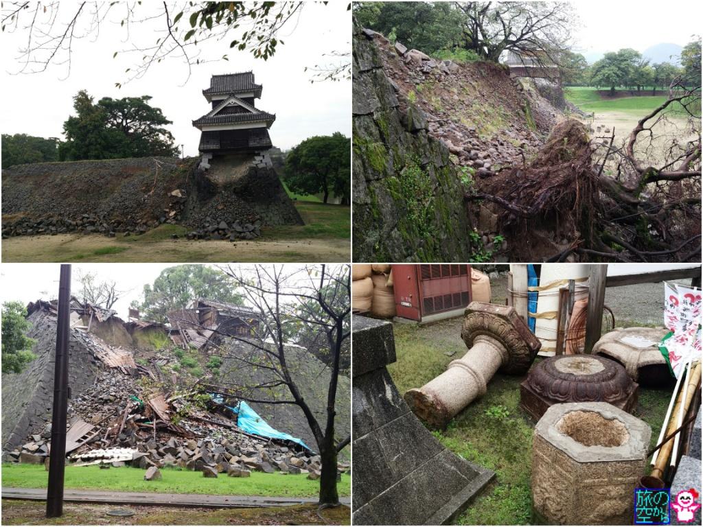熊本城(震災の爪跡)