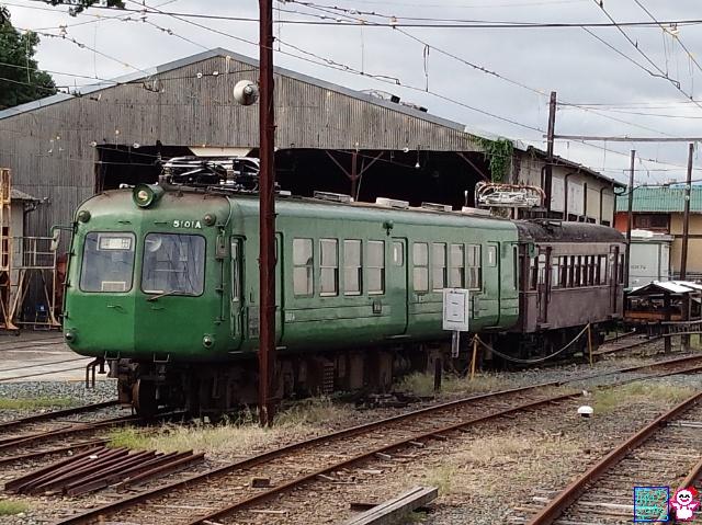 青がえる健在@北熊本駅.熊本電鉄。
