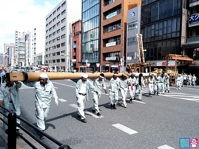 きょうの祇園祭(真木立て)