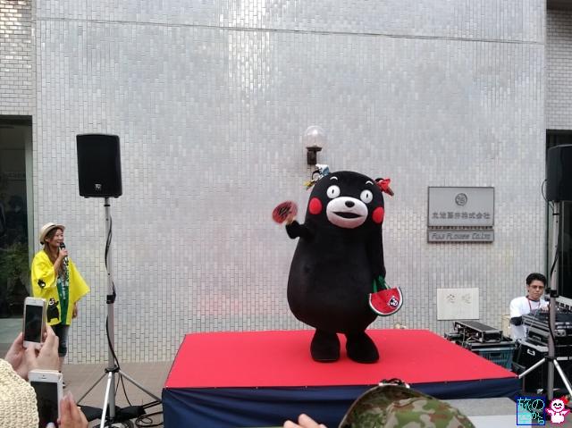きょうの祇園祭(曳き初め二日目、くまモン登場)
