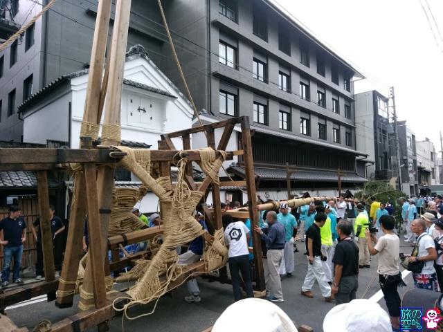 きょうの祇園祭(後祭山鉾建て二日目)