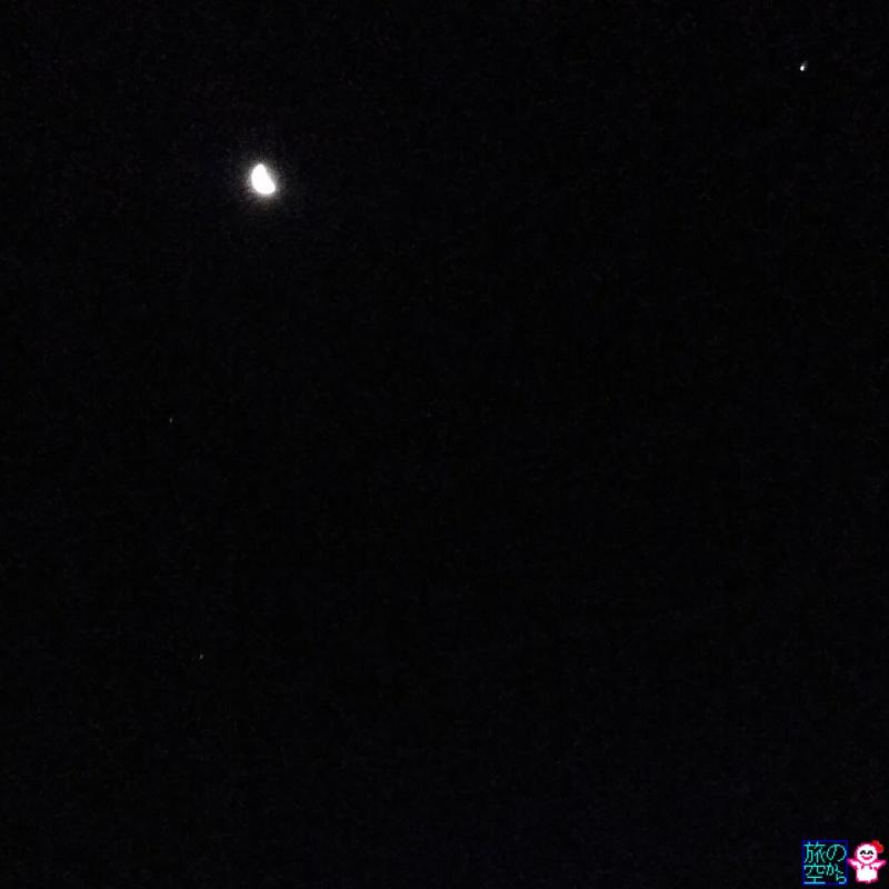 きょうのそら(下弦の月と木星と火星とアンタレス?)
