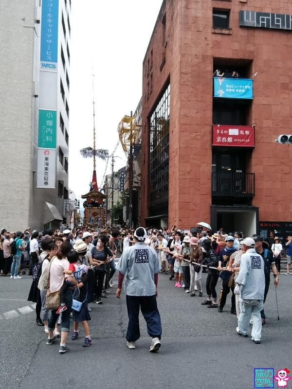 きょうの祇園祭(曳き初め、四条通界隈)
