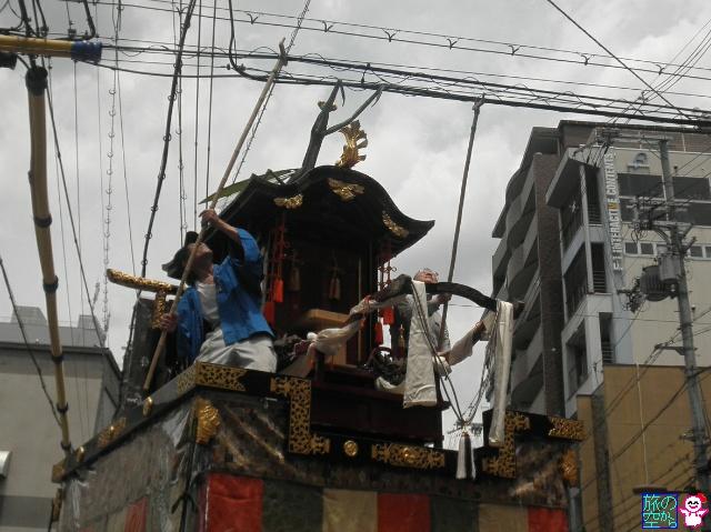 きょうの祇園祭(舁き初め、曳き初め、くまモン)